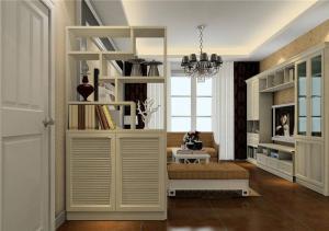 欧式奢华客厅隔断柜设计