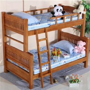 实木子母高低床儿童家具上