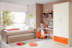 隐形儿童房双层床效果图