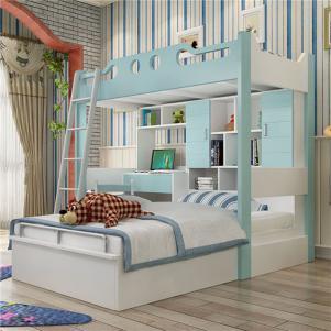 儿童组合床卧室上下床装修