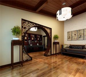 古典书房装修效果图雕花设计