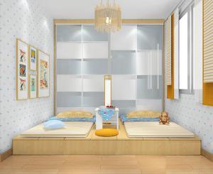 榻榻米装修卧室地台床装修