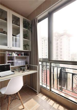 阳台改书房效果图实拍图
