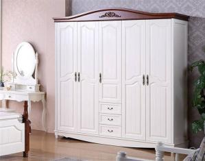 实木象牙白衣柜
