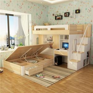 上下床带衣柜带护栏带书桌