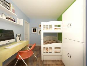 卧室高低床装修效果图儿童房订做