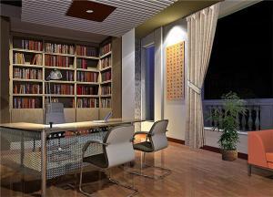 高清无水印小书房装修效果图