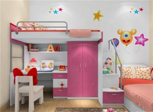 小户型双人女孩儿童房