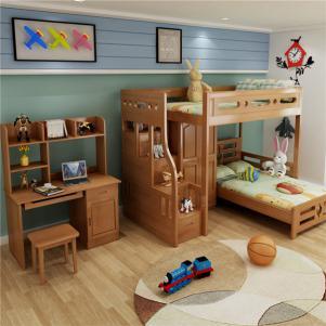 儿童卧室上下床装修效果图