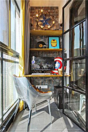 阳台改书房效果图装修设计