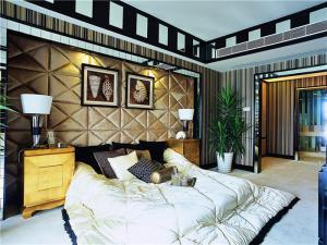 卧室地台床装修效果图欧式