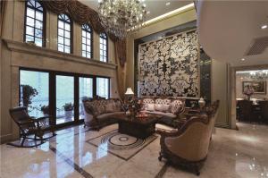 美式客厅家具摆放