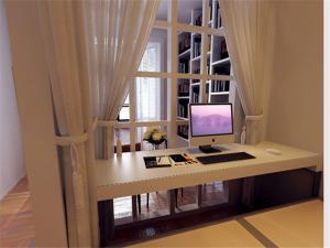 简约书桌板材家具设计