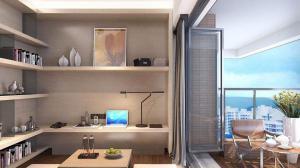 家庭装修阳台书桌
