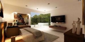 卧室电视背景墙装修图片