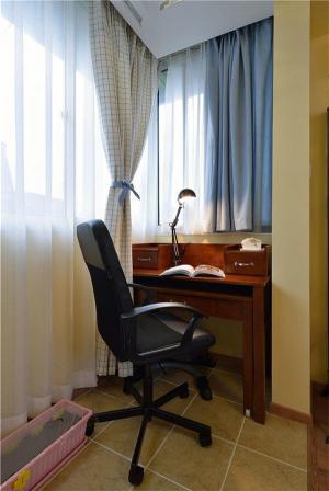 阳台改书房效果图设计实景