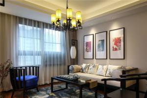 中式客厅背景墙沙发搭配