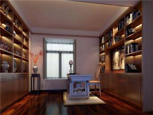 雕花现代简约书房装修效果