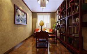 简欧三居室日式书房
