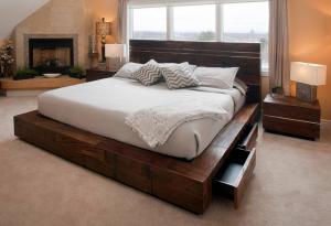 榻榻米床卧室床设计