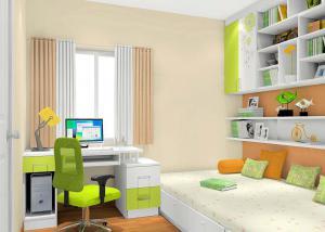 果绿色榻榻米书房装修效果