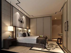 中式风格卧室双人床