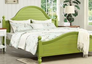 绿色卧室床款式