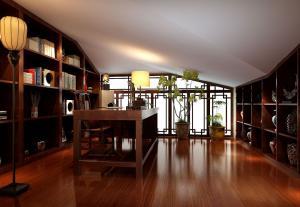 中式阁楼阳光书房装修效果