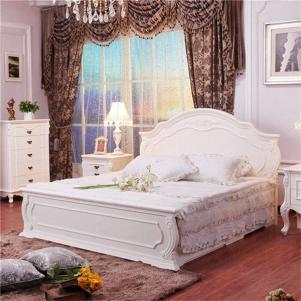白色欧式床家具颜色搭配