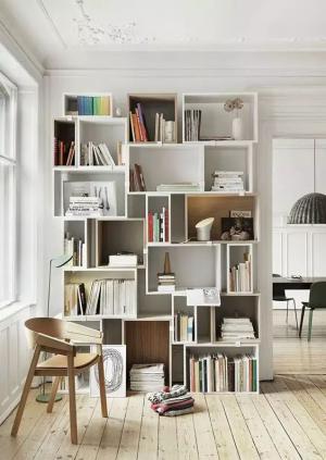 小书房装修风格与墙隔板