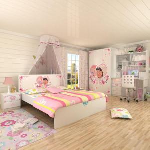 粉色儿童卧室床款式