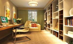 现代简约书房装修效果图沙