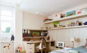 儿童书房装修效果图收纳案