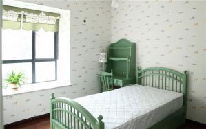 四房两厅田园风格床