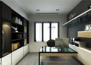 两室现代简约书房装修效果