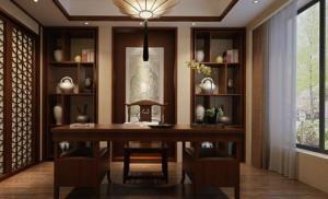 古典书房装修效果图书架