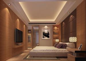 现代背景墙主卧室的床