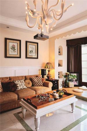 公寓现代客厅茶几图片
