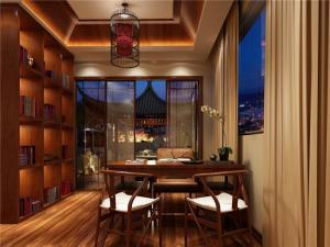 中国风阳光书房装修效果图