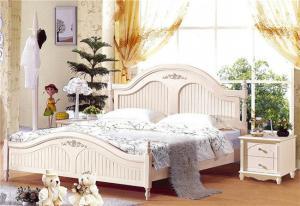 欧式白色卧室床款式