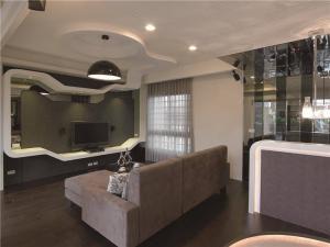 美式客厅沙发摆放效果图欣赏