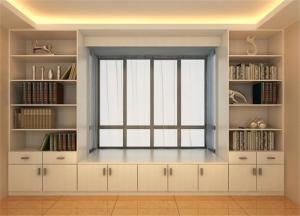 飘窗书柜实拍图