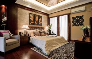 实木简欧卧室装修图片