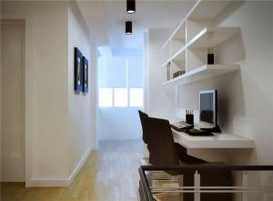 现代象牙白阳台书桌