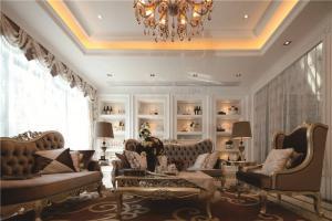 小清新中式客厅家具图片