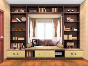 新中式飘窗书柜