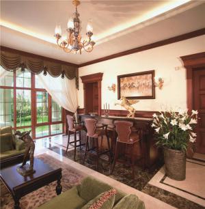 新中式客厅家具摆放