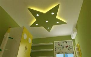 绿色儿童房吊顶效果图
