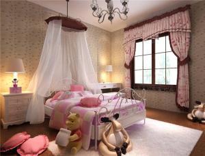美式风格儿童房布置