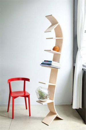 落地创意书柜